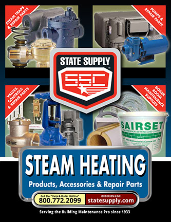 State Supply's Steam Heating catalog cover